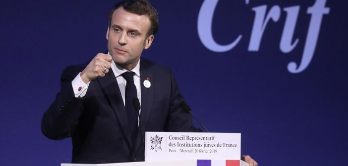 French President Macron reiterates that anti-Zionism is 'a modern form of anti-Semitism' as he announces a series of concrete measures to cope with alarming rise of anti-Semitism