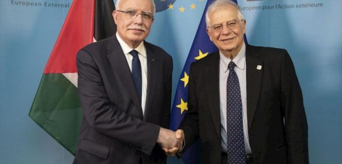 EU's foreign affairs chief 'welcomes Palestinian'willigness to engage in the resumption of meaningful negotiations'
