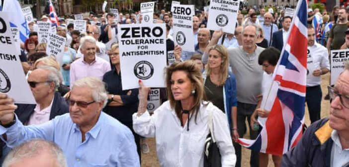 New poll in the U.K.: 45% of British adults agree with at least one of six antisemitic statements put to them