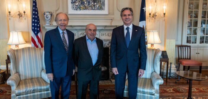 U.S. Secretary of State Blinken discusses anti-Semitism, Babi Yar with Sharansky and Lieberman