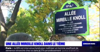 Paris Mayor inaugurates an 'Alley Mireille Knoll', the 85-year-old Holocaust survivor killed in an antisemitic attack
